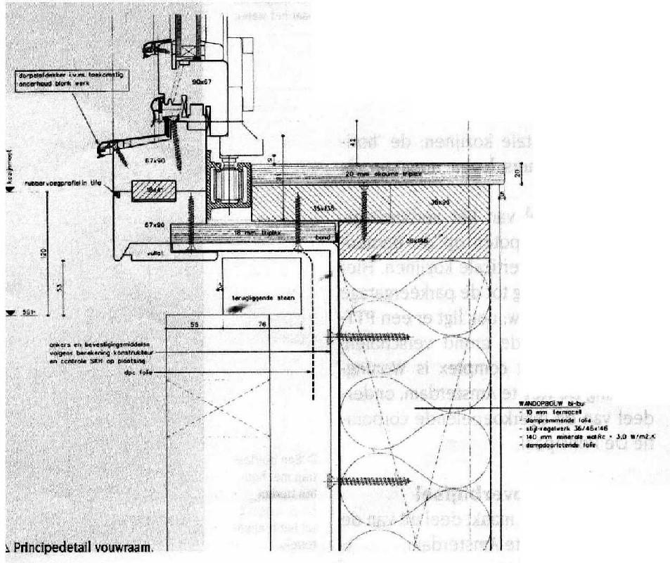 Fonkelnieuw Buitenkozijnen algemeen: Bouwkundig detailleren - details bouwkunde. HQ-32