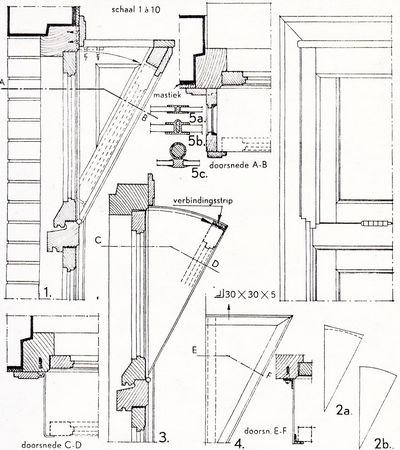 Uitgelezene Buitenkozijnen algemeen: Bouwkundig detailleren - details bouwkunde. NS-03
