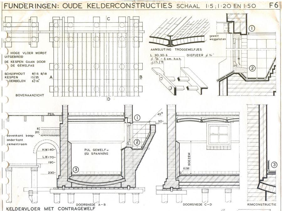 Bekend Kelders: Bouwkundig detailleren - details bouwkunde. TY74