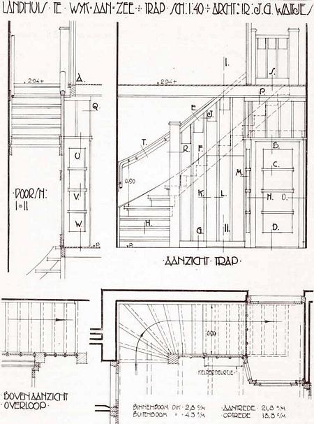 Trappen leuningen en balustraden bouwkundig detailleren details bouwkunde - Buisvormige constructie ...